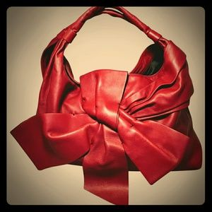 Valentino Red Bow Leather Purse